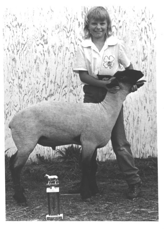 Teri Walsh at her first 4H Show, Crawford County, IA